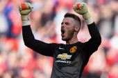 De Gea makes 150th appearance for United