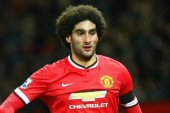 Van Gaal happy using Fellaini as striker