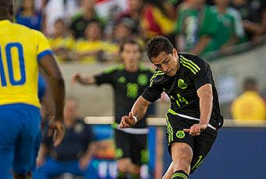 Chicharito ends goalscoring drought with goal against Ecuador