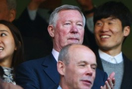 Sir Alex and Park Ji Sung at Chelsea game