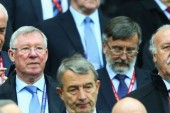 Sir Alex at Europa League final alongside Del Bosque